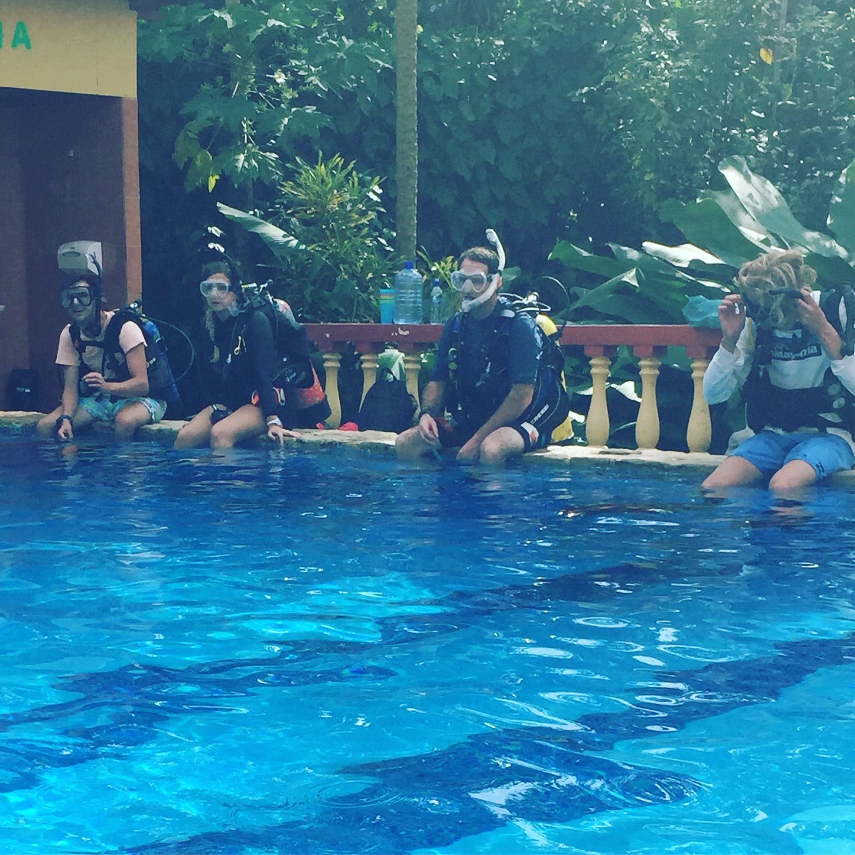 PADI IDC at the pool in costa rica