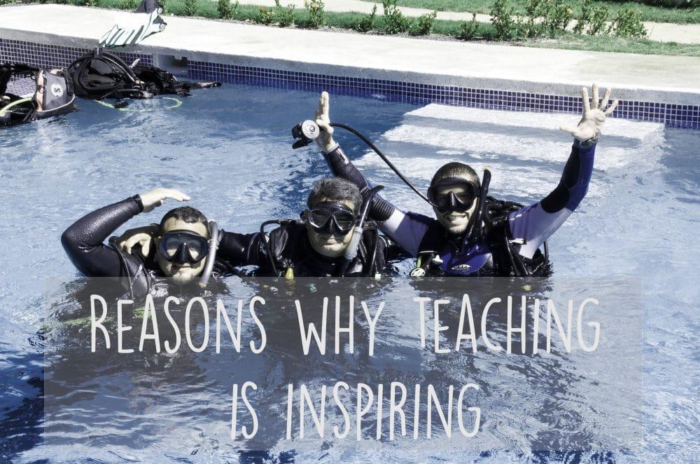 inspiration to teach scuba